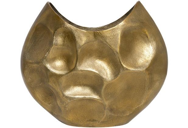 Holländer Dekovase RUSTICA OVAL GROSS Aluminium gold