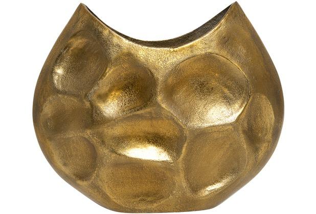 Holländer Dekovase RUSTICA OVAL MITTEL Aluminium gold