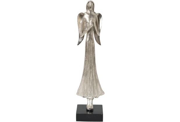 Holländer Engel MARGARETA Aluminium silber - Holz schwarz
