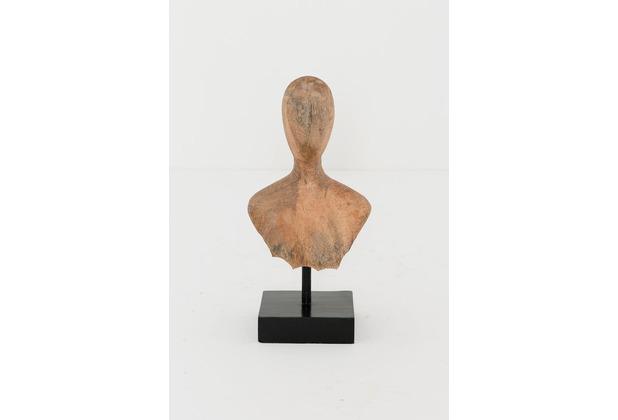 Holländer Figur BUSTO Mangoholz natur Holzsockel schwarz