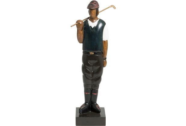 Holländer Figur CONTRAENTE Mangoholz schwarz-weiß-braun - Golfschläger aus Metall