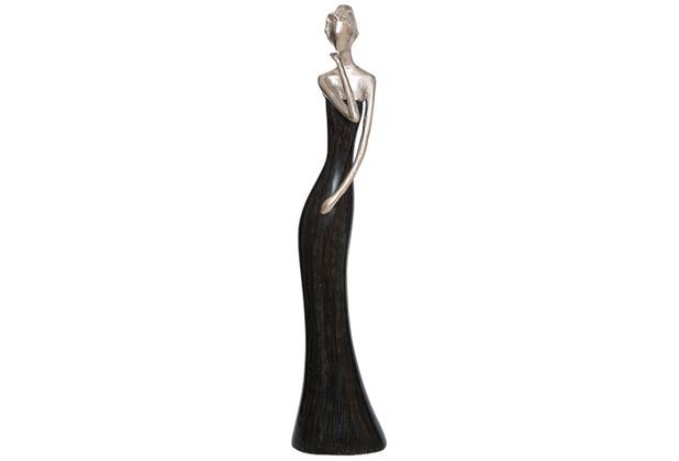 Holländer Figur MILANO Aluminium silber - Holz schwarz Pose 2
