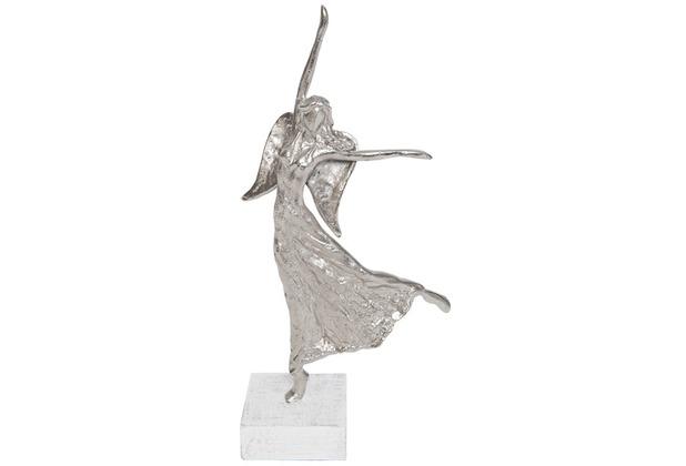 Holländer Figur PRELUDIO Aluminium silber - Holz weiß, Pose 1