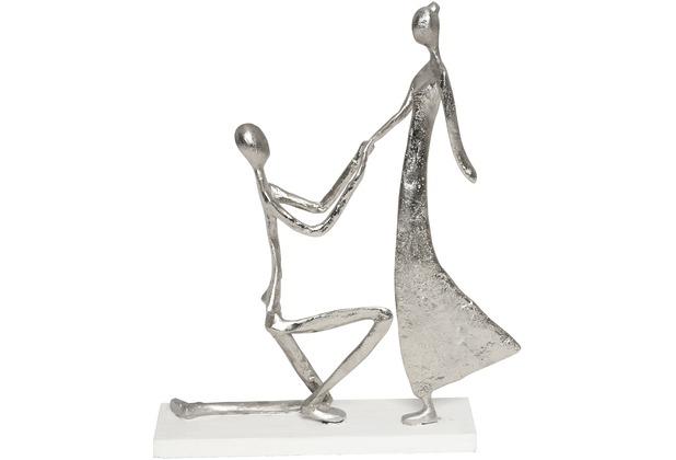 Holländer Figur PROPOSTA Aluminium silber - Holz weiß