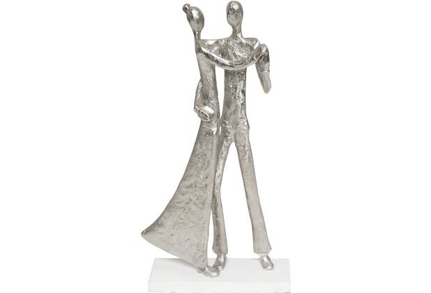 Holländer Figur SIMMETRIA Aluminium silber - Holz weiß