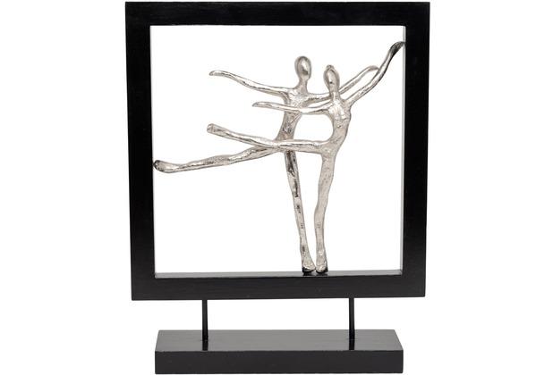 Holländer Figur TEATRO GROSS Aluminium silber - Holz schwarz