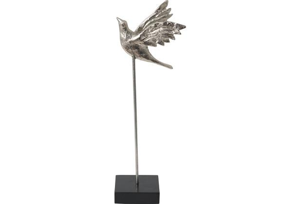 Holländer Figur TORDO GRANDE Aluminium silber - Holz schwarz