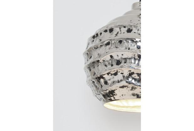 Holländer Hängeleuchte 1-flg. POMELO Aluminium silber vernickelt und schwarz patiniert