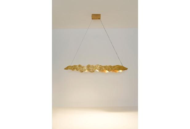 Holländer Hängeleuchte 5-flg NUVOLA Eisen gold mit strukturierter Oberfläche