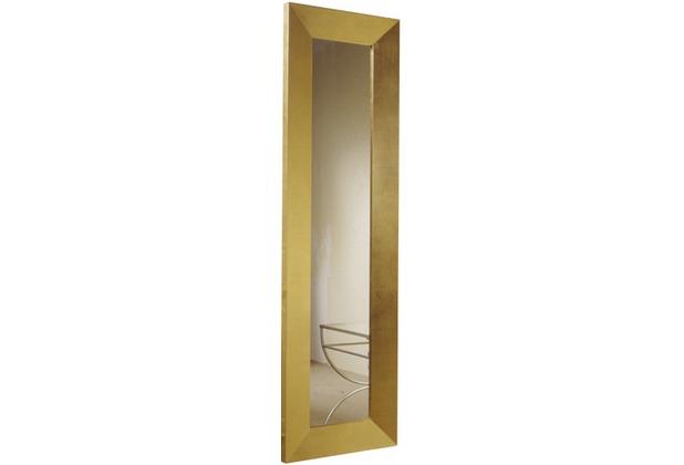 Holländer Spiegel CLASSICO LONGO Rahmen Holz MDF mit Blattgold - Spiegelglas