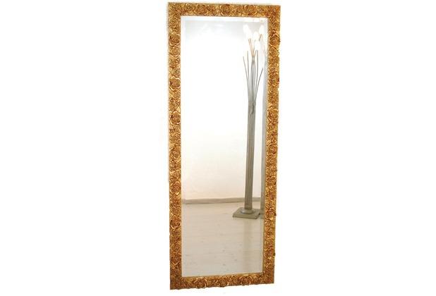 Holländer Spiegel CLASSICO ROSE GARDEN GRANDE Rahmen Holz mit Blattgold - Spiegelglas