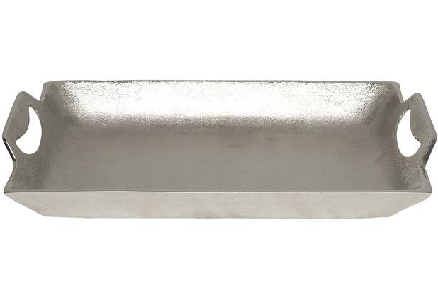 Holländer Tablett DOMESTICA KLEIN Aluminium silber - Rand poliert
