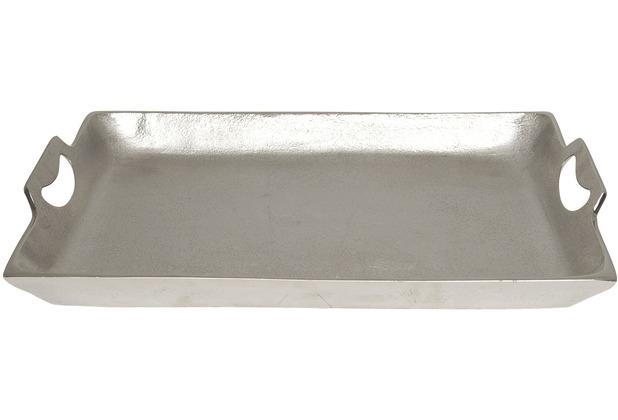 Holländer Tablett DOMESTICA MITTEL Aluminium silber - Rand poliert