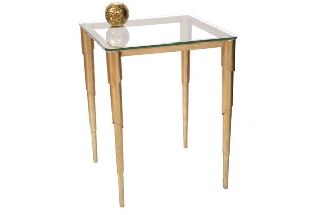 Holländer Tisch INNOVAZIONE Eisen gold - Glasplatte Float klar 8 mm