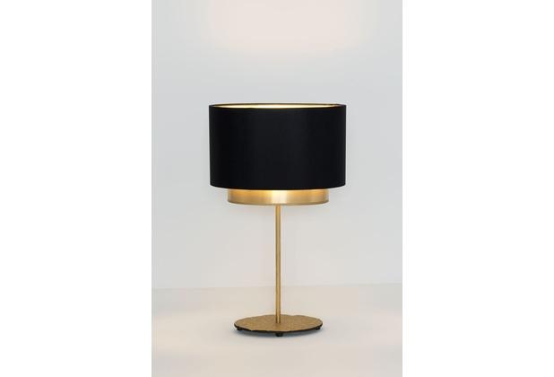 Holländer Tischleuchte 1-flg. MATTIA OVAL gold schwarz