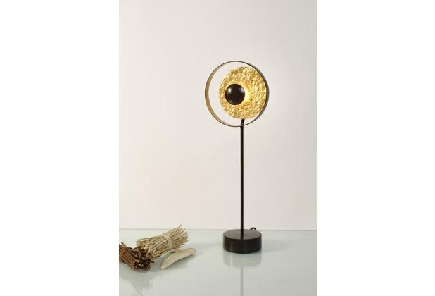 Holländer Tischleuchte 1-flg. SATELLITE Eisen braun-schwarz-gold