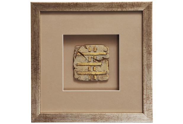 Holländer Wandbild GOIA 3 Holz-Glas-Kunststein silber-gold-sand