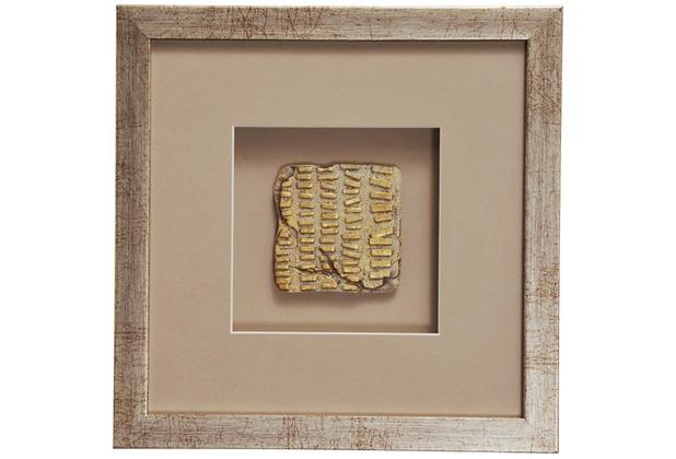 Holländer Wandbild GOIA 4 Holz-Glas-Kunststein silber-gold-sand