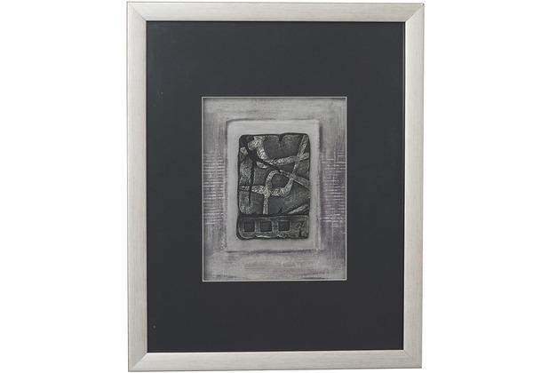 Holländer Wandbild IMMAGINE 2 Holz-Glas-Kunststein silber-schwarz