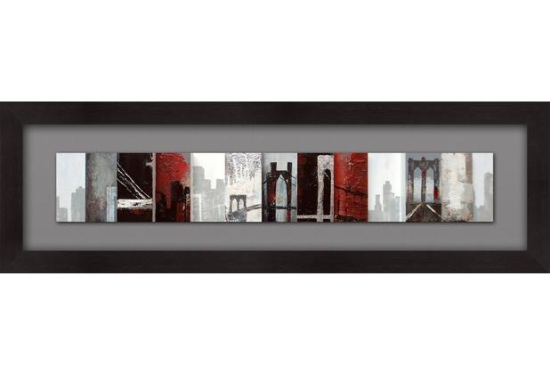 Holländer Wandbild QUARTIERE Holz schwarz-grau-weiss-rot