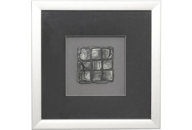 Holländer Wandbild RISULTATO 1 Holz-Glas-Kunststein silber-schwarz