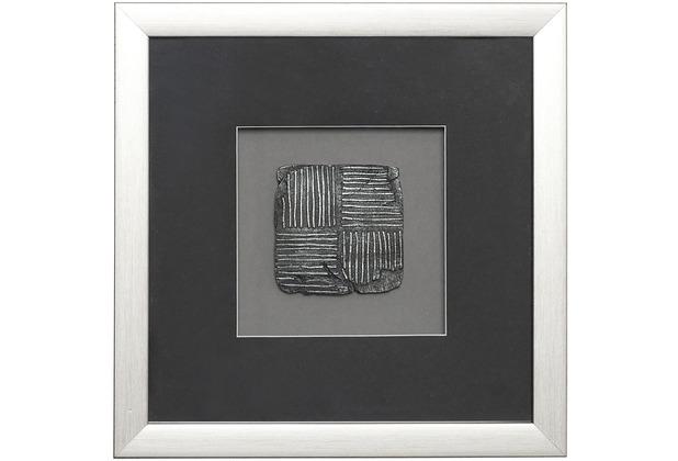 Holländer Wandbild RISULTATO 2 Holz-Glas-Kunststein silber-schwarz