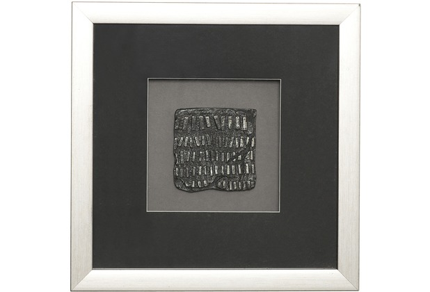 Holländer Wandbild RISULTATO 4 Holz-Glas-Kunststein silber-schwarz