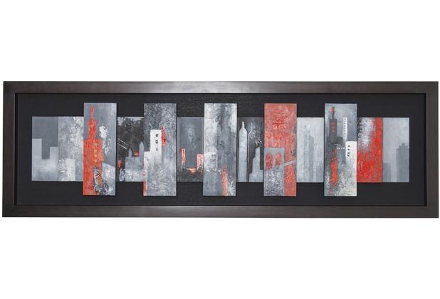 Holländer Wandbild TOROCIELLA Holz schwarz-grau-rot