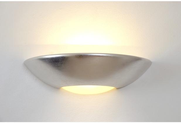 Holländer Wandleuchte 1-flg. MATTEO Keramik mit Blattsilber - Glas weiß satiniert