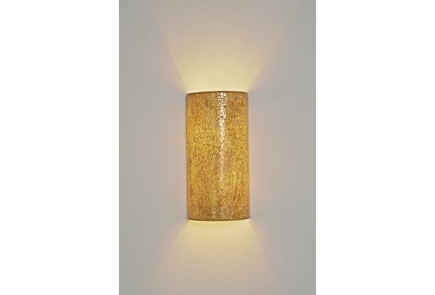 Holländer Wandleuchte 2-flg. NARZISO Glasmosaik amber