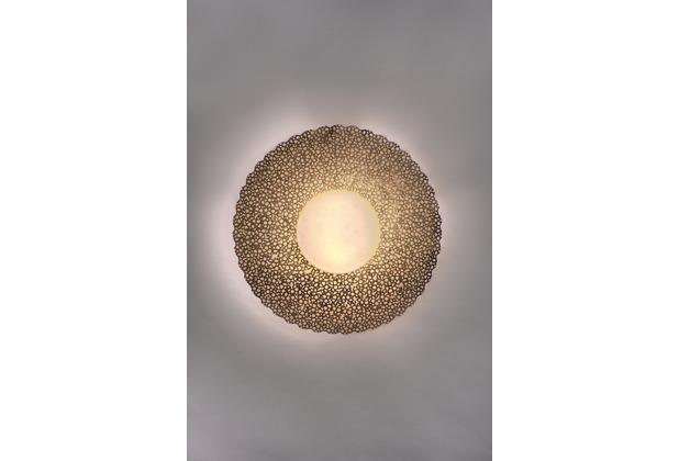 Holländer Wandleuchte 2-flg. UTOPISTICO PICCOLA Eisen gold - Glas weiß opal