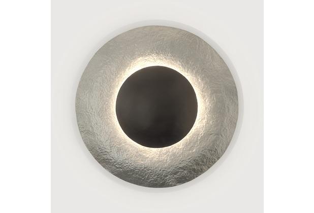 Holländer Wandleuchte 3-flg. SATELLITE 2 Eisen silber-braun mit gehämmerter Oberfläche