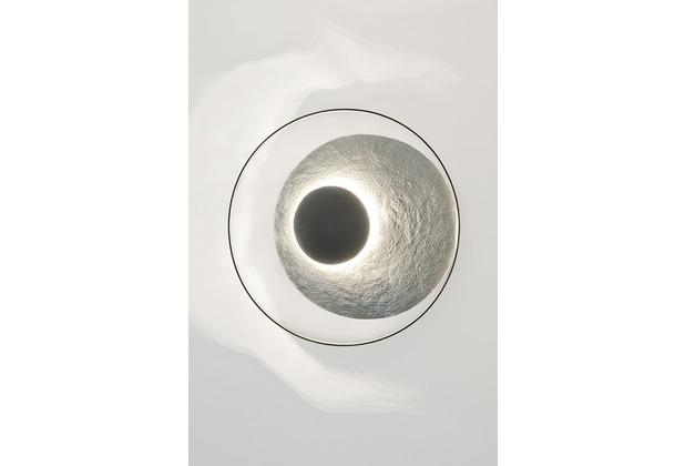 Holländer Wandleuchte 3-flg. SATELLITE Eisen silber-schwarz mit gehämmerter Oberfläche