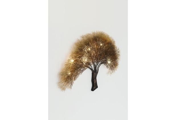 Holländer Wandleuchte 7-flg. ACACIA braun-schwarz-bronze-gold