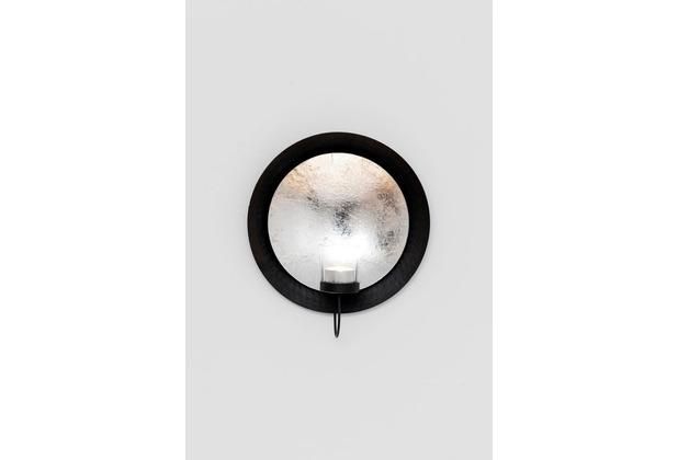 Holländer Wandwindlicht DESERTO PICCOLO Eisen silber-schwarz blattversilbert