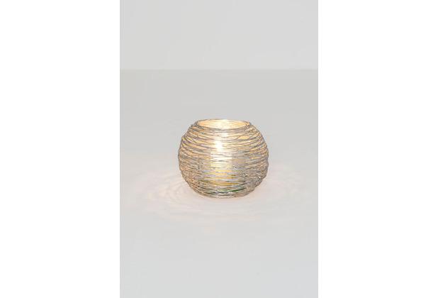 Holländer Windlicht 1-flg. NOMADE PICCOLO Eisen silber Glas klar