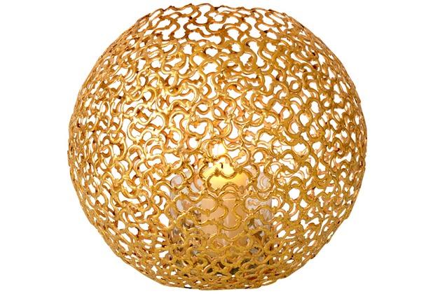 Holländer Windlicht 1-flg. UTOPISTICO KUGEL Metall gold - Glas klar