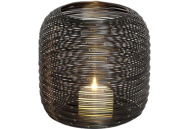 Holländer Windlicht ALBERO GROSS Metall schwarz