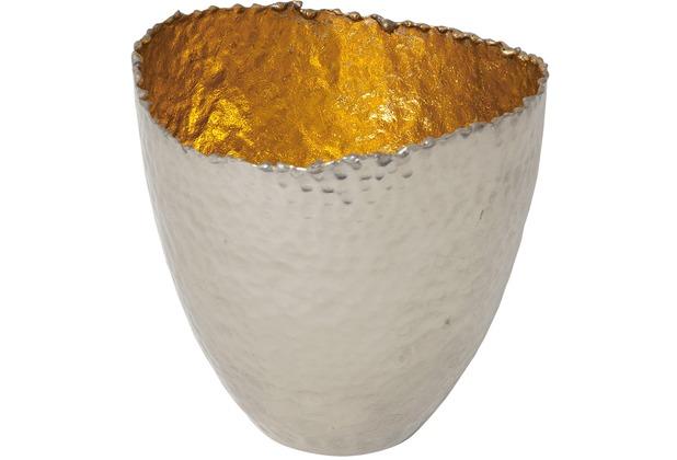 Holländer Windlicht RIVOLUZIONE GROSS Metall silber vernickelt - innen gold