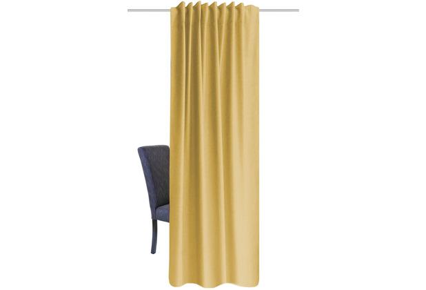 Home Wohnideen Kombibandschal, Dekoschal Thermostoff Geärbt Gelb 245 x 135 cm