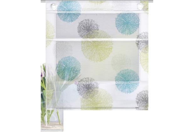 "Home Wohnideen Magnetrollo Bambusoptik \""rawlins\"" Blau Grün 130 x 100 cm"
