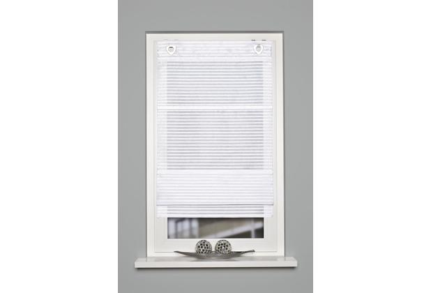 Home Wohnideen Magnetrollo Querstreifen Uni Weiss 130 x 100 cm