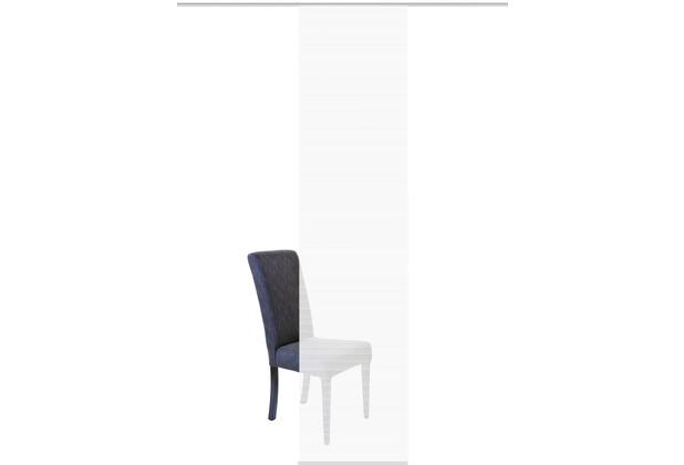 "Home Wohnideen Schiebevorhang Bambus-optik \""rom\"" Weiss 260 x 60 cm"