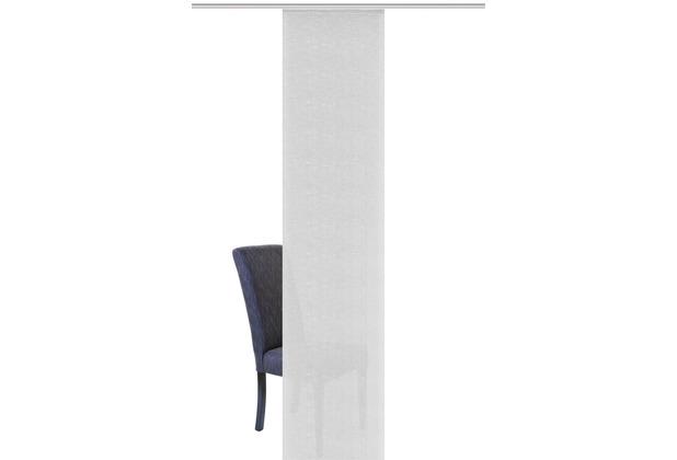 "Home Wohnideen Schiebevorhang Bambusoptik Uni \""balto\"" Grau 245 x 60 cm"
