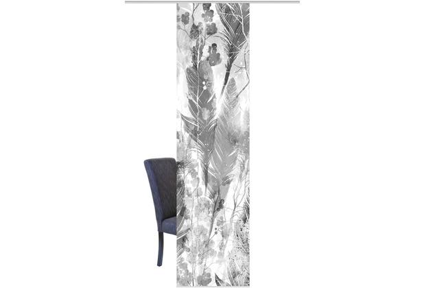 Home Wohnideen Schiebevorhang Dekostoff Digitaldruck Fedora Grau 245 x 60 cm