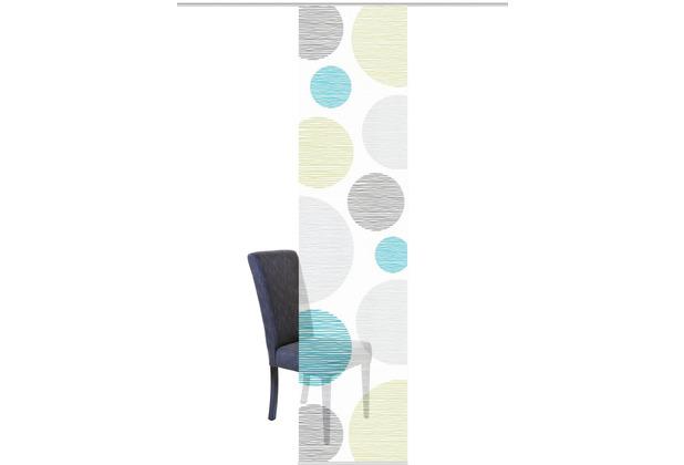 """Home Wohnideen Schiebevorhang Digitaldruck Bambus-optik \""""borden\"""" Blau-grün 260 x 60 cm"""