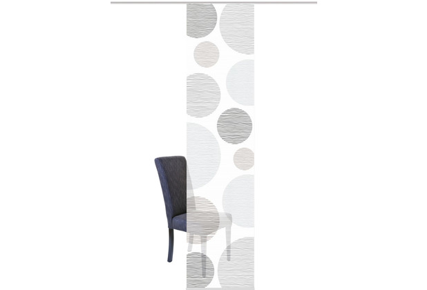 "Home Wohnideen Schiebevorhang Digitaldruck Bambus-optik \""borden\"" Grau 260 x 60 cm"