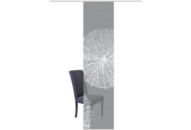 """Home Wohnideen Schiebevorhang Digitaldruck Bambus-optik \""""creston\"""" Rechts Grau 260 x 60 cm"""
