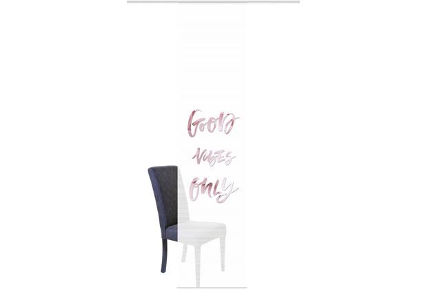 "Home Wohnideen Schiebevorhang Digitaldruck Bambus-optik \""good Vibes\"" Rose 260 x 60 cm"