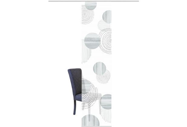 "Home Wohnideen Schiebevorhang Digitaldruck Bambus-optik \""neomi\"" Grau 260 x 60 cm"